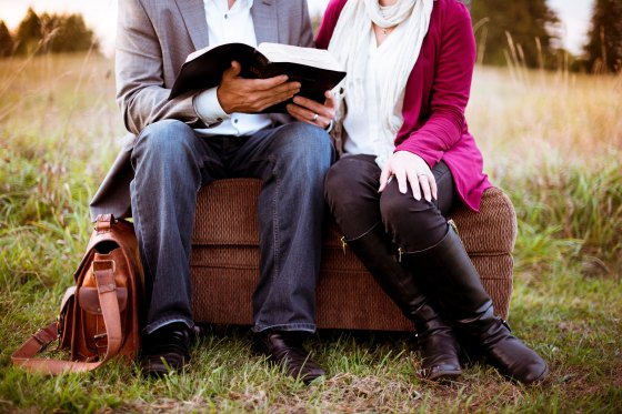 Couple with Bible